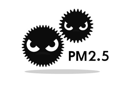 The dusty cartoon icon PM2.5 is a big problem in Bangkok, the capital city of Thailand.