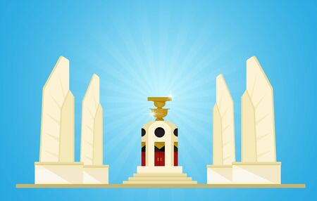 mocracy Monument Representatives of upcoming elections in Thailand 向量圖像