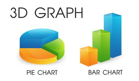 3D pie and bar chart that looks beautiful and modern