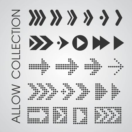 Black arrow icons that look simple and modern. vector illustration. 向量圖像
