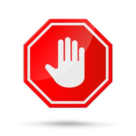 Stop sign icon Notifications that do not do anything. Illustration