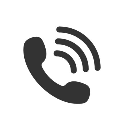 Call icon vector. Noisy phone Flat calling symbol Isolated on white background.