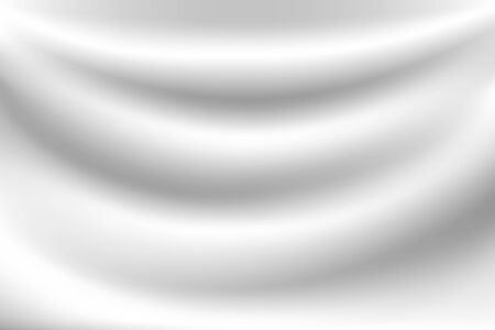 Milk white wave background Looks soft, like a swaying white cloth. 写真素材 - 132702779