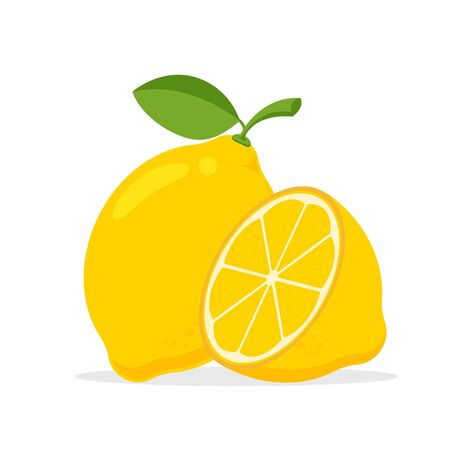 Yellow lemon vector. Lemon is a fruit that is sour and has high vitamin C. Helps to feel fresh.