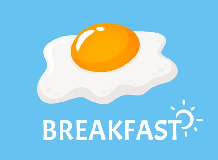 Vector fried eggs that are separated from the background. Eggs are a popular breakfast food.