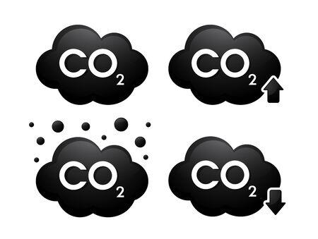 Gas carbon dioxide(Co2) 3D icons. Vector Illustration. Banco de Imagens - 132923212