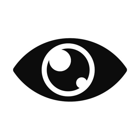 Eye Icon Vector. The eyes reflect the look. Rest sleep to take care of eyesight.