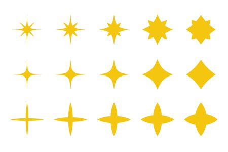 Sparkling star icon. Golden Star Spark Vector For decoration during the Christmas day.