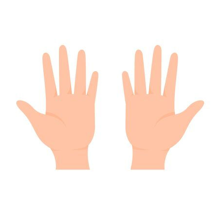 Hand vector. Both hands of a human The idea of ​​starting to do things