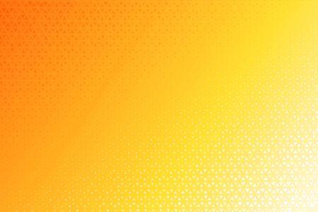 Triangle Halftone Pattern. Many yellow triangular backgrounds that look modern. Vektorgrafik