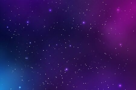 Beautiful Space Background Vector Full of dust and glittering stars in the galaxy.