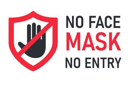 keine Gesichtsmaske kein Eintritt. Das Label bietet keinen Service für Personen, die keine Maske tragen.