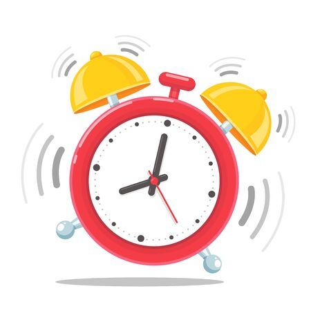 Alarm clock icon. Alarm clock that sounds loudly in the morning to wake up from bed. 向量圖像