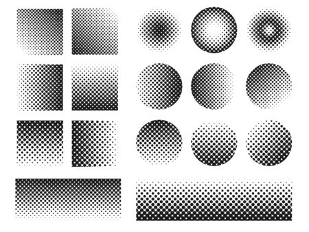 Circle Halftone Point Element. halftone gradient vector. isolate on white background.