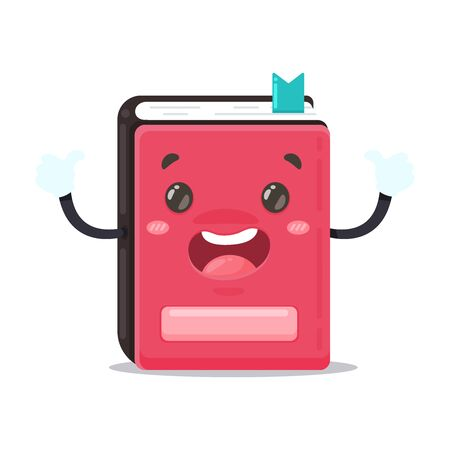 Cartoon red book holding a thumbs up