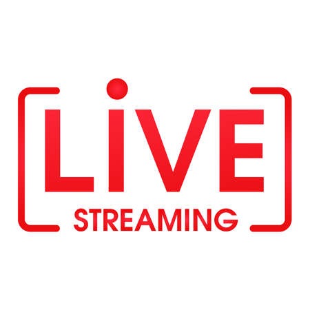 Live streaming symbol Online broadcast icon The concept of live streaming for selling on social media.