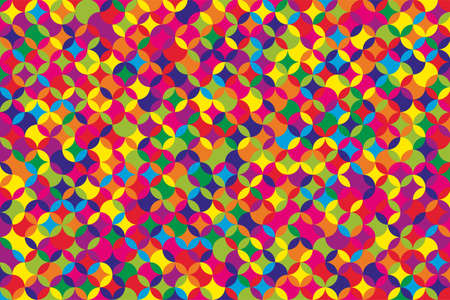 Colorful geometric shapes mosaic background. Ilustrace