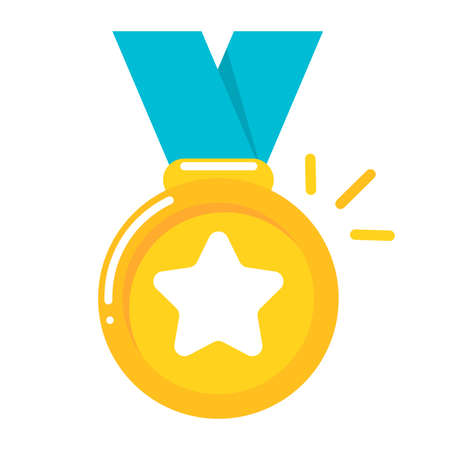 Medal Vector. Gold medals are the prize of the winner of a sports event.