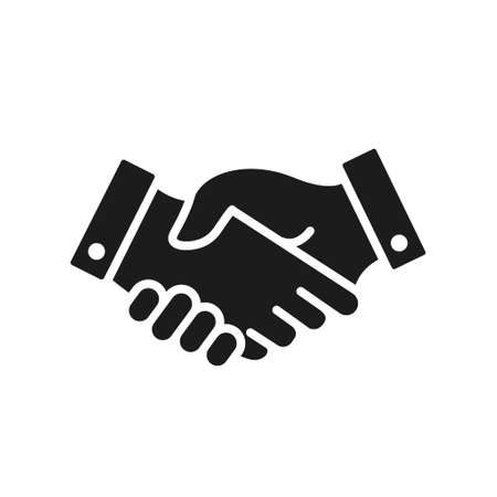 handshake Icon. Shaking hands is a symbol of greeting and business partnership. Stock fotó - 155003640