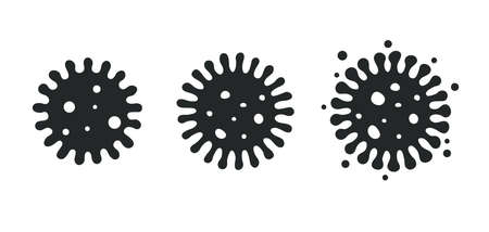 Vector coronavirus that develops strains to spread disease to sick people. isolate on white background.