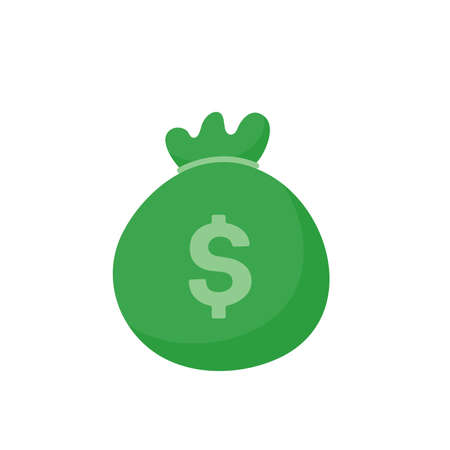 The green money bag holds a lot of dollar bills.