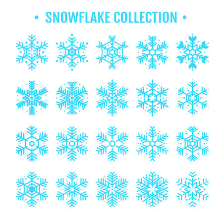 Vector beautiful snowflake design collection For the winter season that comes with Christmas in the New Year. Standard-Bild - 157166467