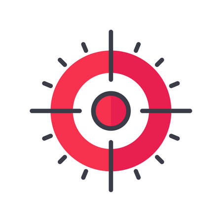Target icon An arrow that is placed in the middle of the target. Business goal concept.