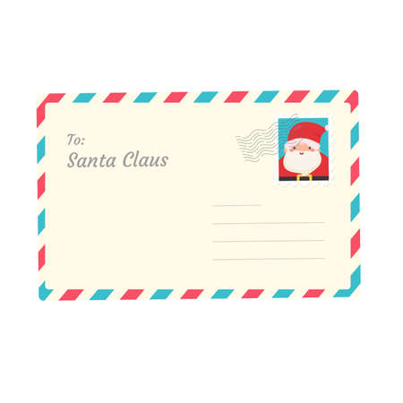 Letter to Santa. Children who write letters to Santa at Christmas Snowy winter. Illustration