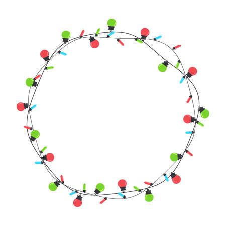 Christmas light bulbs. Colorful light bulbs for Christmas decoration. Isolated on white background. Vektorové ilustrace