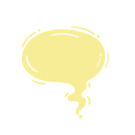 Speech bubble for entering conversation messages And thoughts of cartoon characters