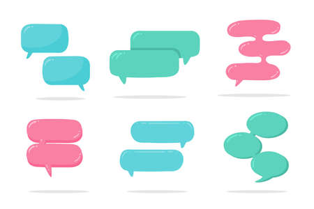 Speech Bubble for Entering Conversation Messages and Thoughts of Cartoon Characters Illustration