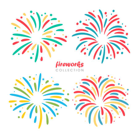 Graphic fireworks design for celebrating the new year.