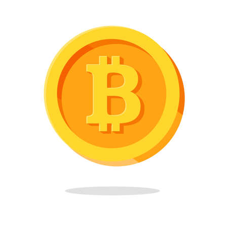 Bitcoin symbol icon for future internet world money Safe and reliable currency symbols Vector isolated on background