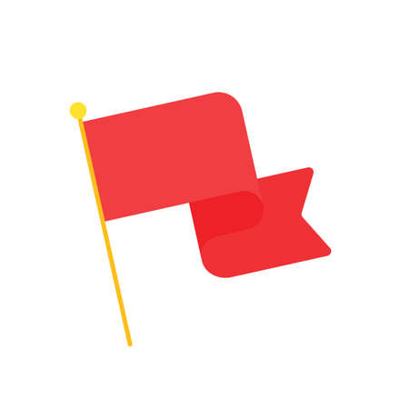 Red flags fluttering Symbol of victory Awards of winners in sports events