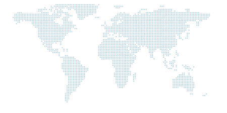 Dotted world map.The vector halftone circles that form the world map. Vector design illustration. 일러스트