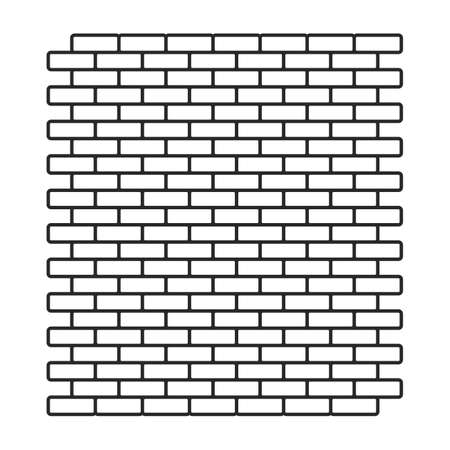 Continuous brick pattern background Beautiful lines of bricks that line the walls. Vektorové ilustrace