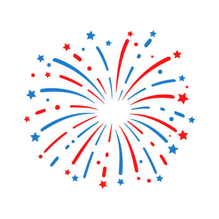 The 4 th of july. American flag fireworks. For celebrating America's Independence Day Ilustracje wektorowe