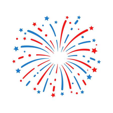 The 4 th of july. American flag fireworks. For celebrating America's Independence Day Ilustração Vetorial