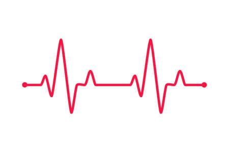 Heartbeat graph vector set Concept of helping patients and exercising for health. Ilustración de vector