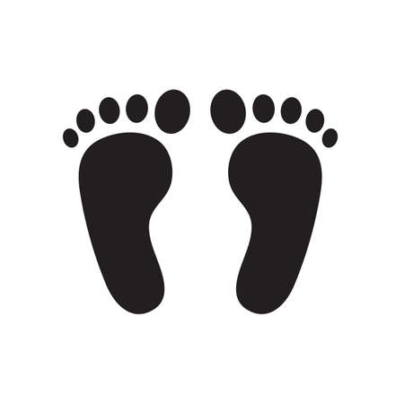 Footprint icon. Smelly feet The concept of keeping your feet healthy by washing your feet.
