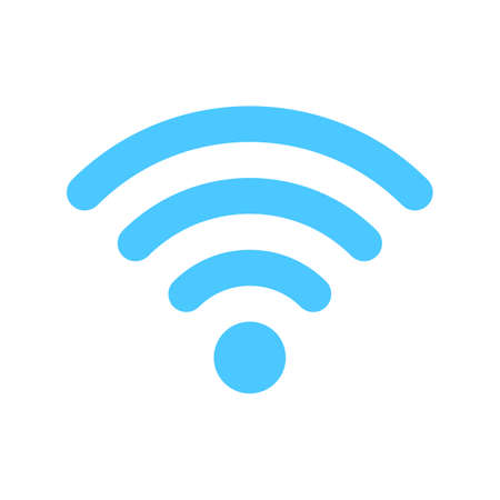 wifi icon. Wireless symbol vector for internet connection from router broadcasting.