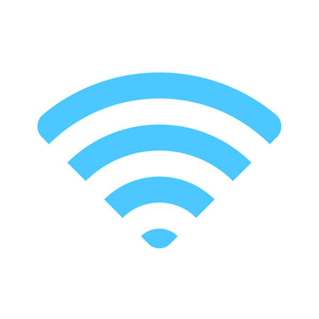 wifi icon. Wireless symbol vector for internet connection from router broadcasting. Vektorgrafik