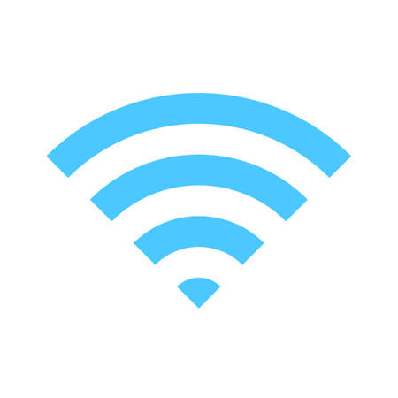 wifi icon. Wireless symbol vector for internet connection from router broadcasting. Ilustración de vector