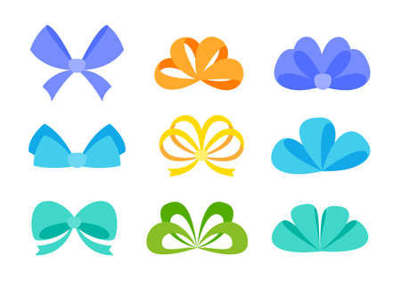 Ribbons tied together in a bow are used to decorate gift boxes given to each other in the New Year.