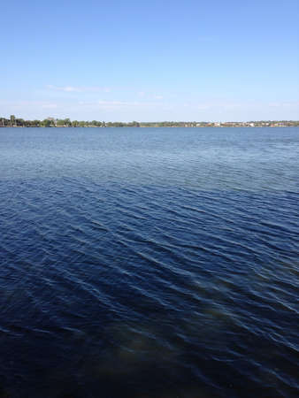 water sources: Blue lake Stock Photo