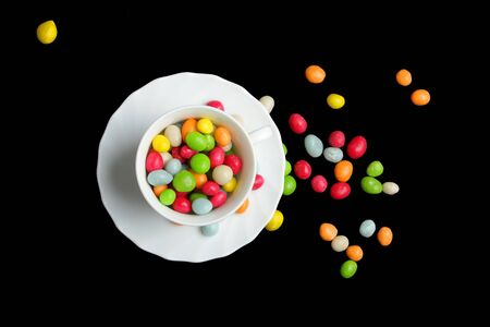 colored candy on black  Stock Photo - 6458890