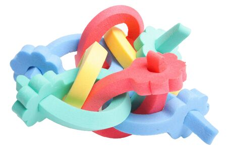 untangle: A few curler on white background (isolated)