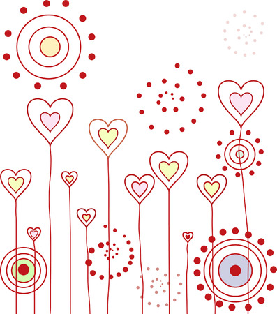 pinstripe: Beautiful love pattern (some hearts and pinstripe)