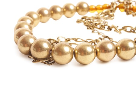 chaplet: metallic chaplet on white background (close up)