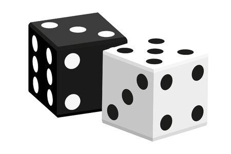 Casino   illustration (black and white ivories) Vector